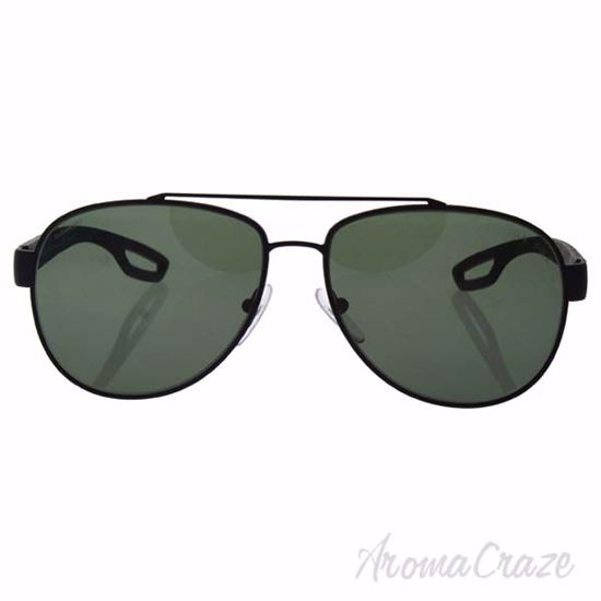 Prada SPS 55Q DG0-5X1 - Black Rubber/Grey Green Polarized by