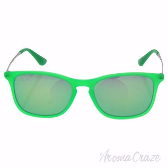 Picture of Ray Ban RJ 9061S 7007/3R - Green Gunmetal/Green Flash by Ray Ban for Kids - 49-15-130 mm Sunglasses