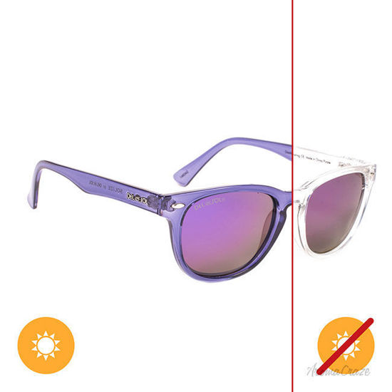 Picture of Solize Good Day Sunshine - Clear-Purple by DelSol for Unisex - 1 Pc Sunglasses