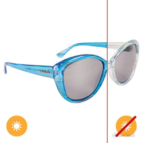 Picture of Solize Summer of Love - Clear-Blue by DelSol for Unisex - 1 Pc Sunglasses