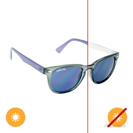 Picture of Solize Dont Worry Baby  Clear-Purple by DelSol for Unisex - 1 Pc Sunglasses