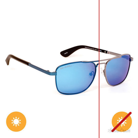 Picture of Solize Under The Boardwalk - Charcoal-Blue by DelSol for Unisex - 1 Pc Sunglasses