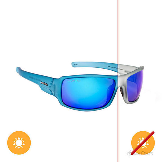 Picture of Solize Ocean Spray - Frosted Charcoal-Blue by DelSol for Unisex - 1 Pc Sunglasses