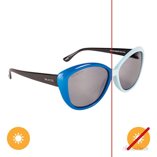Picture of Solize California Calling - White-Blue by DelSol for Unisex - 1 Pc Sunglasses