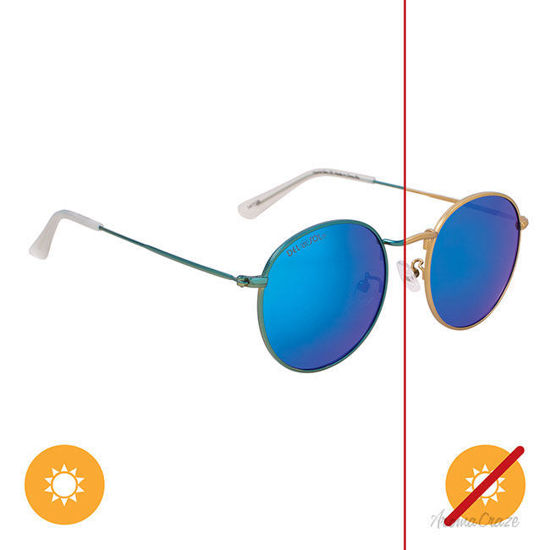Picture of Solize Vitamine Sea - Gold-Blue by DelSol for Unisex - 1 Pc Sunglasses
