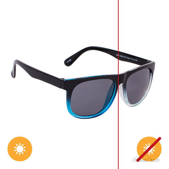 Picture of Solize Splish Splash - Black and Clear-Blue by DelSol for Kids - 1 Pc Sunglasses