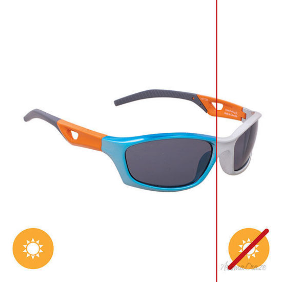 Picture of Solize I Gotta Feeling - Silver-Blue by DelSol for Kids - 1 Pc Sunglasses