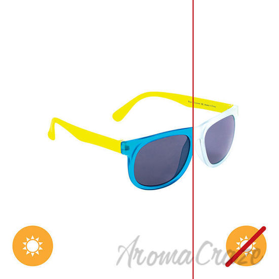 Picture of Kids Solize Boys of Summer - Clear to Blue by DelSol for Kids - 1 Pc Sunglasses