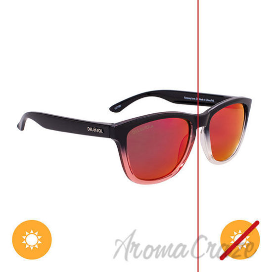 Picture of Solize Runaway Love - Black and Clear to Pink by DelSol for Unisex - 1 Pc Sunglasses