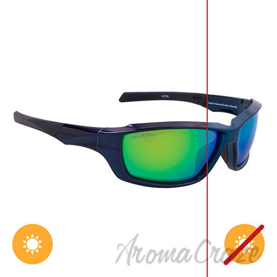Picture of Solize Ready for Adventure - Metallic Blue to Midnight Blue by DelSol for Unisex - 1 Pc Sunglasses