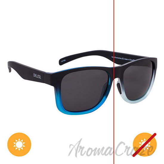 Picture of Solize Sweet Summertime - Black and Light Blue to Blue by DelSol for Unisex - 1 Pc Sunglasses
