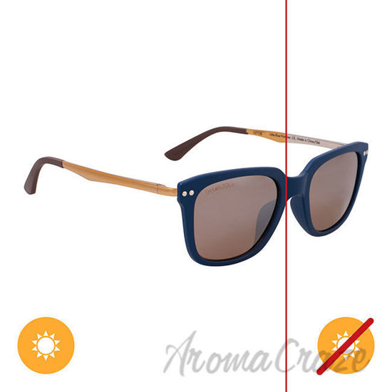 Picture of Solize Little Blue Number - Blue and Silver to Gold by DelSol for Unisex - 1 Pc Sunglasses