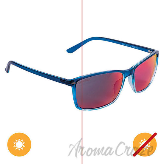 Picture of Solize Good Vibes Only - Clear-Blue by DelSol for Unisex - 1 Pc Sunglasses