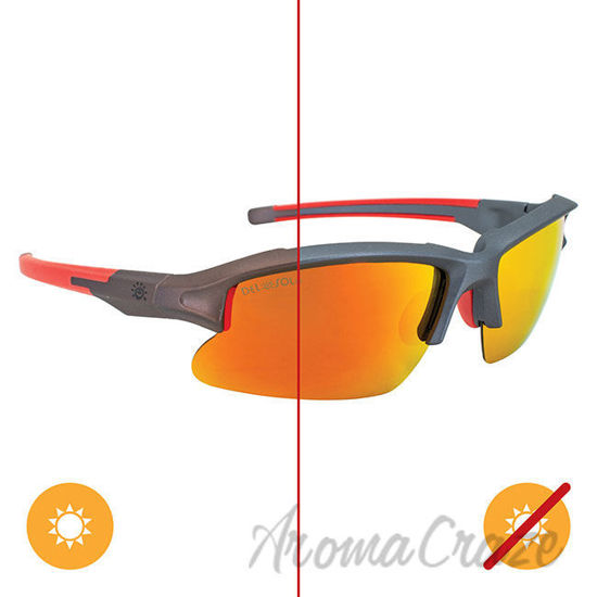 Picture of Solize Light My Fire - Gray to Orange by DelSol for Men - 1 Pc Sunglasses