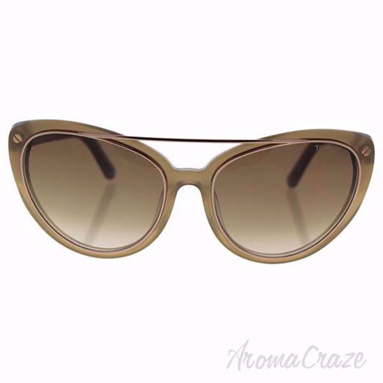 Picture of Tom Ford FT0384 34F Edita Shiny Light Bronze/Brown Gradient Sunglasses for Women 58-18-140 mm