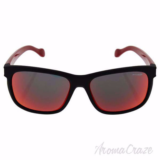 rnette AN 4196 2242/6Q Slacker - Fuzzy Black/Red Sunglasses for Men