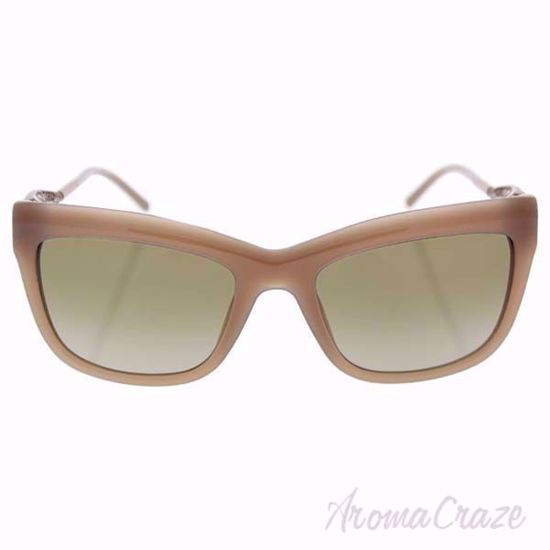 Burberry BE 4207 3572/13 Opal Beige/Brown Gradient Sunglasses for Women on SunglassCraze.com. 56-20-140 mm Sunglasses. Beige color frame with brown bronze gradient lens of a square shape.