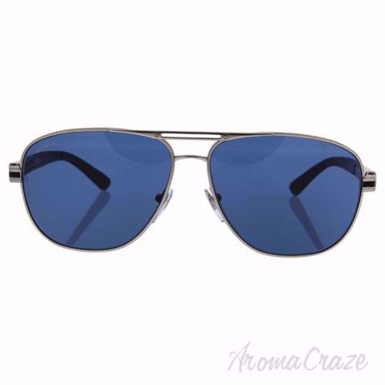 Picture of Bvlgari BV5033 400/80 - Matte Silver/Dark Blue by Bvlgari for Men - 59-13-140 mm Sunglasses