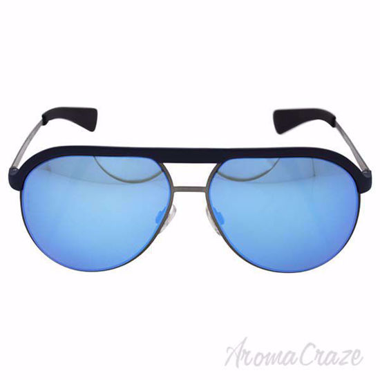 Picture of Dolce & Gabbana DG 6099 3017/25- Matte Blue-Matte Gunmetal Grey/Light Green Blue by Dolce & Gabbana for Men - 58-14-145 mm Sunglasses