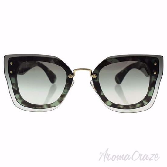 Picture of Miu Miu MU 04R UAG-0AG-0A7 - Green Havana/Grey by Miu Miu for Women - 67-16-140 mm Sunglasses
