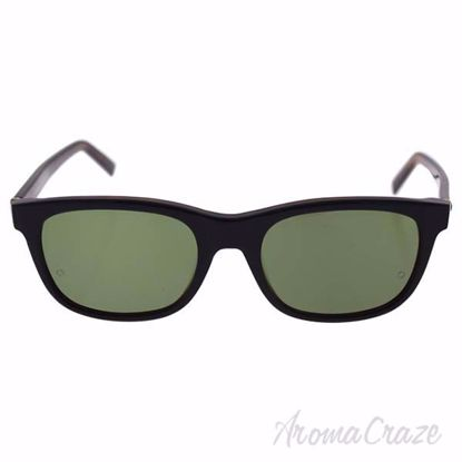 Mont Blanc MB507S 01N - Shiny Black/Green Polarized by Mont