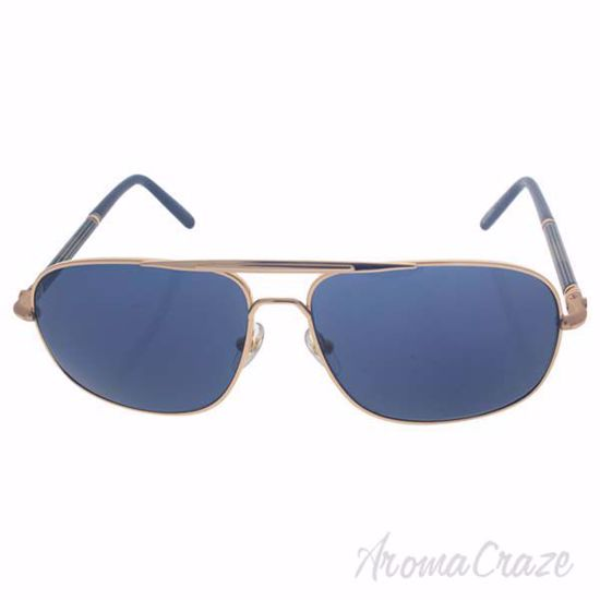 Picture of Mont Blanc MB513S 28V - Shiny Rose Gold/Blue by Mont Blanc for Men - 61-14-140 mm Sunglasses