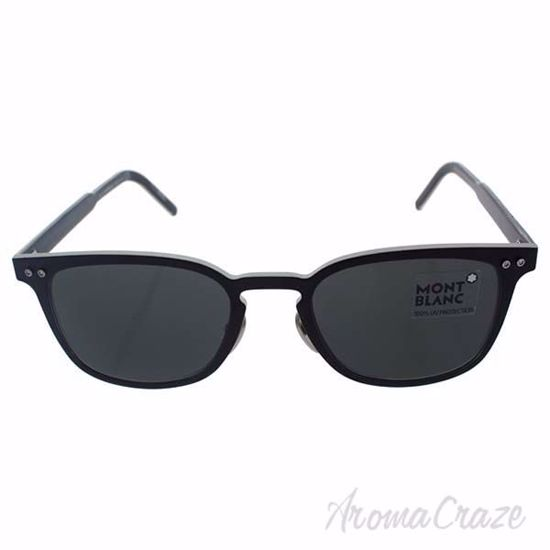 Picture of Mont Blanc MB584S 02A - Matte Black/Smoke by Mont Blanc for Men - 51-20-145 mm Sunglasses