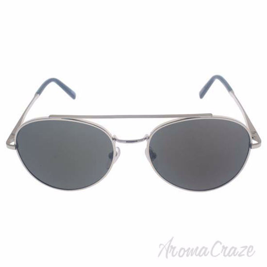 Picture of Mont Blanc MB605S 16D - Shiny Palladium/Smoke Polarized by Mont Blanc for Men - 56-18-145 mm Sunglasses
