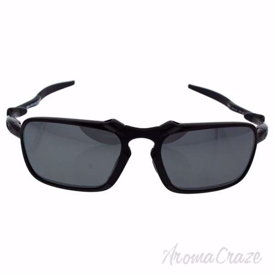 Picture of Oakley Badman OO6035-01 - Dark Carbon/Black Iridium Polarized by Oakley for Men - 56-20-135 mm Sunglasses