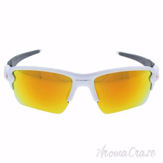 Oakley Flak 2.0 OO9188-19 - Polished White/Fire Yellow Iridi