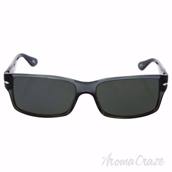 Picture of Persol PO2803S 1012/58 - Black/Green Polarized by Persol for Men - 58-16-140 mm Sunglasses
