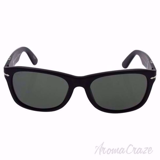 Persol Sunglasses PO2953SM 1042/58 - Matte Black/Green Polarized Eyeglasses for Men