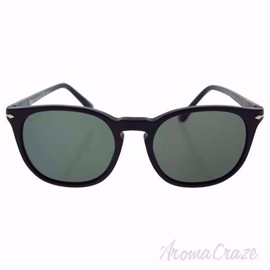 Persol PO3007S 9000/58 - Matte Black/Green Polarized by Pers
