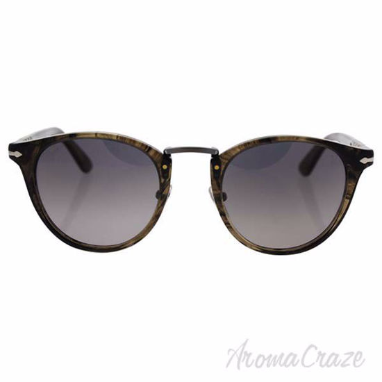 Picture of Persol PO3108S 1019/M3 - Striped Beige/Grey Gradient Polarized by Persol for Men - 47-22-145 mm Sunglasses