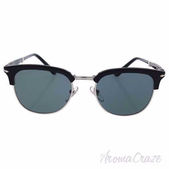 Picture of Persol PO3132S 95/4N - Black/Blue Photo Polarized by Persol for Men - 51-20-145 mm Sunglasses