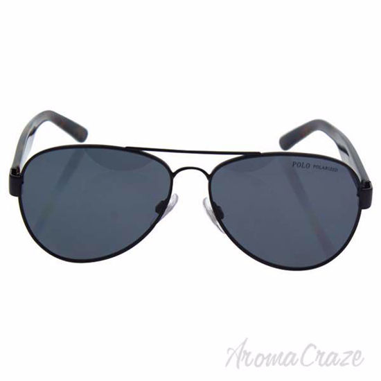 Picture of Polo Ralph Lauren PH 3096 9267/81 - Semi Shiny Black/Grey Polarized by Ralph Lauren for Men - 59-14-145 mm Sunglasses