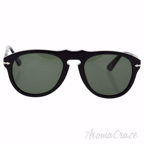Persol PO649 95/58 - Black/Green Polarized by Persol for Men