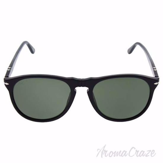 Picture of Persol PO9649S 95/58 - Black/Grey Green Polarized by Persol for Men - 55-18-145 mm Sunglasses