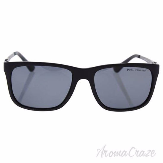 Picture of Polo Ralph Lauren PH4088 5284/81 - Black Matte/Grey Polarized by Ralph Lauren for Men - 55-17-145 mm Sunglasses