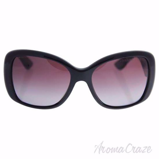 Picture of Prada SPR 32P 1AB-2A0 - Black/ Gradient Violet Polarized by Prada for Women - 57-17-140 mm Sunglasses