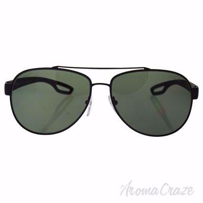 Prada SPS 55Q DG0-5X1 - Black Matte/Green Polarized by Prada