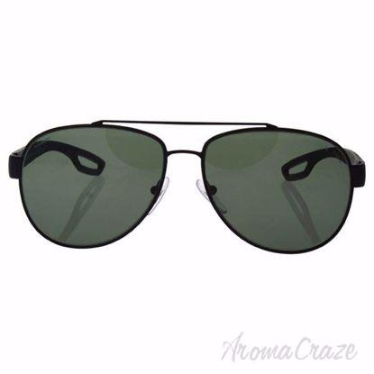 Prada SPS 55Q DG0-5X1 - Black Rubber/Grey Green Polarized by