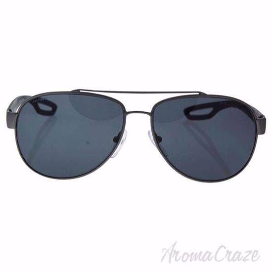 Picture of Prada SPS 55Q DG1-5Z1 - Gunmetal Rubber/Grey Polarized by Prada for Men - 59-14-140 mm Sunglasses