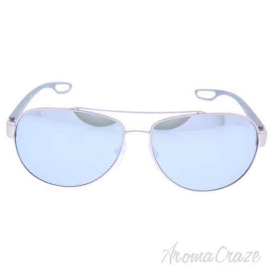 Picture of Prada SPS 55Q QFP-5K2 - Silver Rubber/Green Silver by Prada for Men - 62-14-140 mm Sunglasses