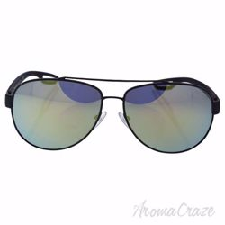 Prada SPS 55Q TIG-4J2 - Grey Rubber/Emerald Iridium by Prada for Men - 62-14-140 mm Sunglasses