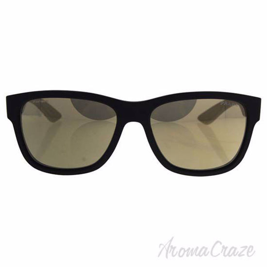 Prada Sunglasses For Men SPS 03Q DG0-1C0 - Black Rubber Light Brown Gold 57-17-145 mm Sunglasses
