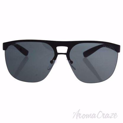 Prada SPS 53Q DG0-1A1 - Black Rubber/Grey by Prada for Men -