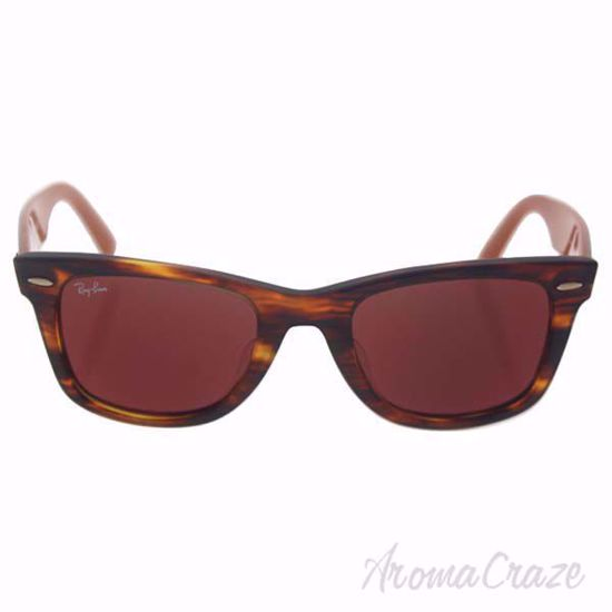 Ray Ban RB 2140-F 1177/2K Wayfarer - Striped Havana/Brown Re