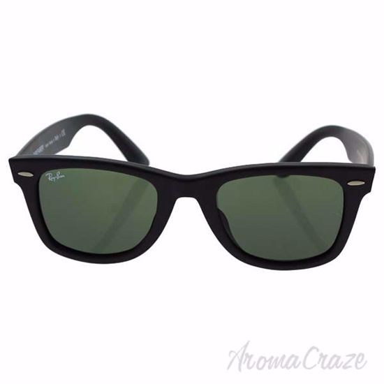 Ray Ban RB 2140-F Wayfarer 901-S - Matte Black/Green by Ray