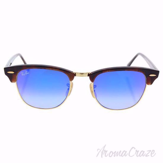 Ray Ban Sunglasses RB 3016 990/7Q Clubmaster Tortoise/Blue Gradient by Ray Ban for Unisex 51-21-145 mm